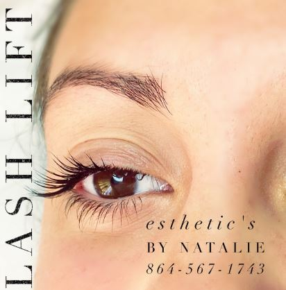 Eyelash lift Charleston SC Esthetics by Natalie - Esthetic's